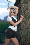 kobiet parkowi potomstwa Obraz Royalty Free