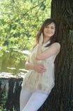 kobiet parkowi potomstwa Zdjęcie Royalty Free