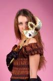 kobiet piękni karnawałowi potomstwa Fotografia Royalty Free
