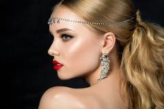 kobiet piękni profilowi potomstwa obraz royalty free