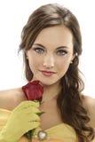 kobiet piękni różani potomstwa obraz stock