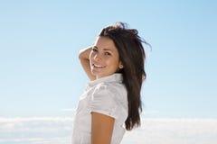 kobiet piękni uśmiechnięci potomstwa obrazy royalty free