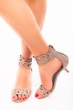 Kobiet piękne nogi i lato buty Zdjęcie Stock