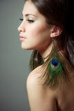 kobiet piękni profilowi potomstwa Fotografia Royalty Free