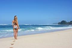 kobiet plażowi potomstwa obraz royalty free
