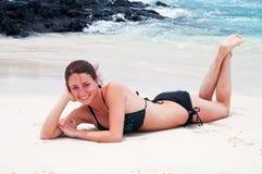 kobiet plażowi target550_0_ potomstwa Fotografia Stock