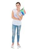 Kobiet południe - afrykanin flaga Obrazy Royalty Free