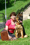 kobiet psi potomstwa Fotografia Stock