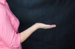 kobiet różowi koszulowi potomstwa Obrazy Royalty Free