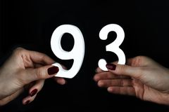 Kobiet ręki postać dziewięćdziesiąt trzy obrazy stock