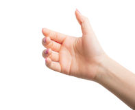 Kobiet ręk gesty Zdjęcie Stock