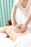 Kobiet receves popierają masaż obrazy royalty free
