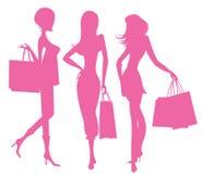 Kobiet Robić zakupy ilustracji