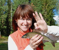 kobiet rybi potomstwa Obraz Royalty Free