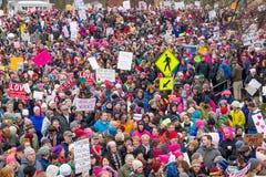 2017 kobiet ` s Marzec Minnestoa Zdjęcie Royalty Free