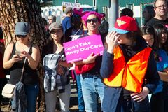 2018 kobiet ` s Marzec w Santa Ana, Kalifornia Obrazy Royalty Free