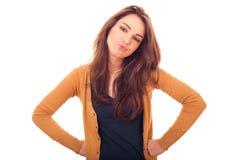 Kobiet spojrzenia questioningly na tobie Fotografia Stock