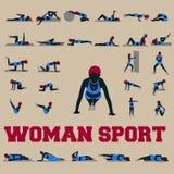 30 kobiet sporta stylu zupełna kolekcja Zdjęcia Stock