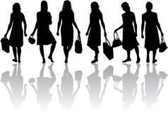 Kobiet sylwetki ilustracja wektor