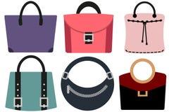 Kobiet torby ustawiają 1 ilustracja wektor