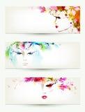 Kobiet twarze Fotografia Royalty Free