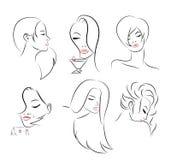Kobiet twarze Zdjęcie Royalty Free