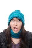 Kobiet twarze - zła niespodzianka zdjęcia royalty free