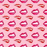 Kobiet warg bezszwowa deseniowa wektorowa ilustracja Fotografia Stock
