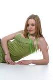 kobiet zieleni seksowni koszulowi potomstwa Zdjęcia Stock