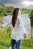 Kobieta ładować z energią Fotografia Stock