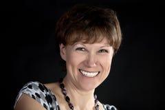 kobieta średni uśmiechnięci rok zdjęcia royalty free