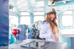 Kobieta żeglarz Zdjęcia Stock