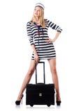 Kobieta żeglarz odizolowywający Obraz Stock