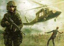 Kobieta żywego trupu i pilota apocalypse Ciepły zielony kolor royalty ilustracja