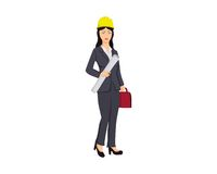 Kobieta architekta ilustracja Zdjęcie Royalty Free