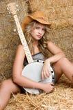 kobieta banjo. Zdjęcie Royalty Free