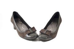 Kobieta beżu buty obraz royalty free