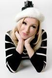 kobieta beret modna Fotografia Royalty Free