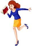 Kobieta biega pośpiesznie Obrazy Stock