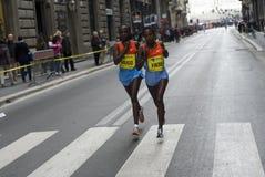 Kobieta biegacze zdjęcie stock