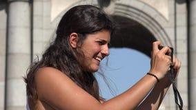 Kobieta Bierze Urlopowe fotografie zbiory wideo