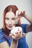 Kobieta biznesowi oszczędzania Obrazy Stock