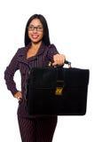 Kobieta bizneswomanu pojęcia odosobniony biały tło Obraz Royalty Free