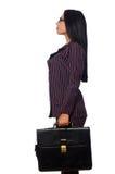 Kobieta bizneswomanu pojęcia odosobniony biały tło Obraz Stock