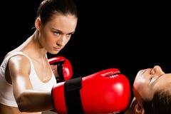 Kobieta boks Obrazy Royalty Free