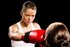 Kobieta boks Fotografia Stock