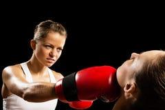 Kobieta boks Fotografia Royalty Free