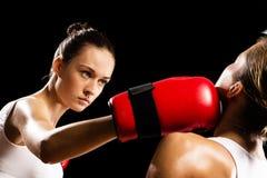 Kobieta boks Obraz Stock