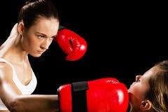 Kobieta boks Obrazy Stock