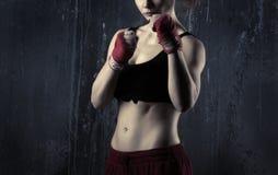 Kobieta bokser Obraz Royalty Free